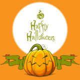 Halloween vector spiteful pumpkin. Halloween background with spiteful pumpkin Stock Images