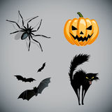 Halloween vector symbols Royalty Free Stock Photos