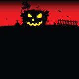 Halloween-vector van de pompoen de rode kunst Stock Fotografie