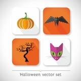 Halloween-Vektor-Ikonen Stockfoto