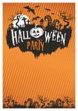Halloween-Vektor moder Plakat, Fliegerpartei Lizenzfreie Stockfotos