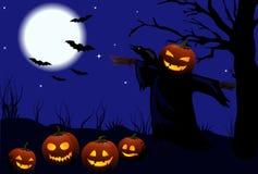 Halloween-vektorabbildung Lizenzfreie Stockfotografie