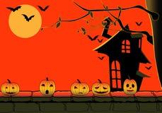 Halloween-vektorabbildung mit Kürbis Stockfotografie