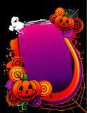 Halloween-vektorfahne Stockfotografie