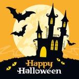 Halloween vektorkort Royaltyfri Fotografi