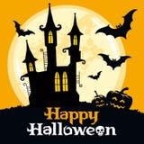 Halloween vektorkort Royaltyfria Foton