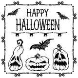Halloween-Vektorplakat Lizenzfreie Stockfotos