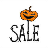 Halloween-Vektorplakat Lizenzfreies Stockfoto