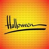 Halloween vektorram. Handbokstäver royaltyfri illustrationer