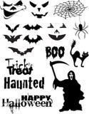 Halloween-vektorsatz Lizenzfreie Stockfotografie