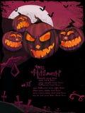Halloween-vektorschablone Lizenzfreies Stockbild