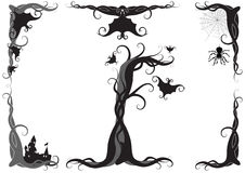 Halloween-vektorverzierung Stockbild