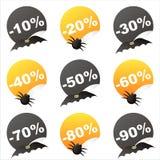 Halloween-Verkaufsaufkleber Stockbild