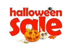 Halloween-Verkaufsentwurf mit Buchstaben des Bluts. Stockfotografie