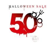 Halloween-Verkoopbanner van vakantieverkoop vijftig percentenkorting royalty-vrije illustratie