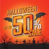 Halloween-verkoopbanner Vector illustratie Royalty-vrije Stock Afbeeldingen