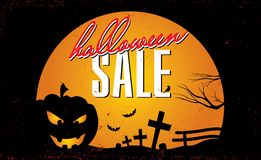 Halloween-verkoopmalplaatje Royalty-vrije Stock Afbeeldingen