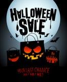 Halloween-verkoopontwerp. Stock Afbeeldingen