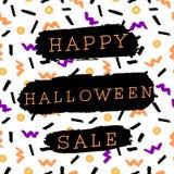 Halloween-Verkoopontwerp Stock Afbeelding