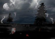 Halloween verließ Friedhof Stockfotografie