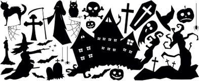 Halloween-verschrikkings grote reeks vector illustratie