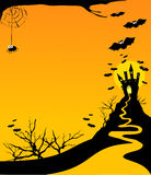 Halloween vertical background Royalty Free Stock Photo