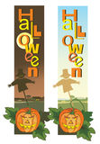 Halloween vertical banners Royalty Free Stock Photo