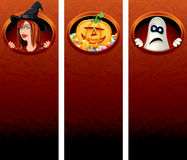 Halloween Vertical banners Stock Photos