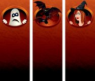 Halloween vertical banners Stock Photography
