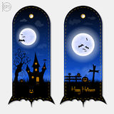 Halloween vertical banners labels set. Vector illustration. Stock Photography