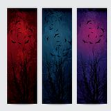 Halloween vertical banners set Royalty Free Stock Photo