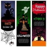 Halloween vertical banners vector illustration