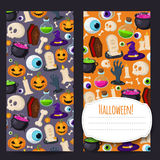 Halloween vertical banners for your design Royalty Free Stock Photo