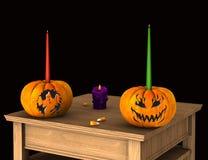 Halloween-viering Royalty-vrije Stock Afbeeldingen