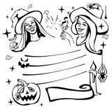 Halloween-viering van de kinderen de gelukkige vrees royalty-vrije illustratie