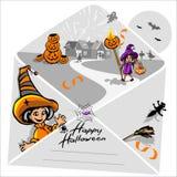 Halloween-viering van de kinderen de gelukkige vrees vector illustratie