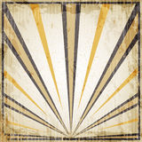 Halloween vintage art deco background - black and orange rays, old paper. Royalty Free Stock Photography