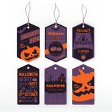 Halloween vintage labels Royalty Free Stock Image