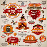 Halloween vintage set vector illustration