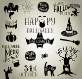 Halloween vintage silhouettes Royalty Free Stock Images