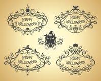 Halloween vintage vector frames Stock Images