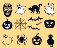 Halloween, vita di là, vita dell'al di là e diametro de muertos Immagini Stock Libere da Diritti
