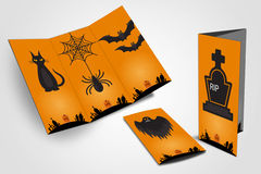 Halloween-vlieger trifold Stock Foto