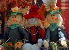 Halloween-Vogelscheuchepuppen Lizenzfreies Stockbild