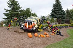 Halloween Volkswagen display Royalty Free Stock Photo