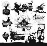 Halloween, Vrijdag 13 geplaatste de decoratie van de verschrikkingspartij stock illustratie
