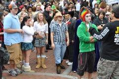 Halloween vs. Religion Royalty Free Stock Image