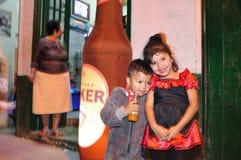 Halloween w San Agustin - Kolumbia Zdjęcie Stock