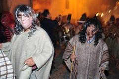 Halloween w San Agustin - Kolumbia Zdjęcia Stock