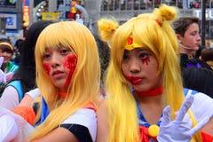 Halloween w Shibuya, Tokio, Japonia Fotografia Royalty Free